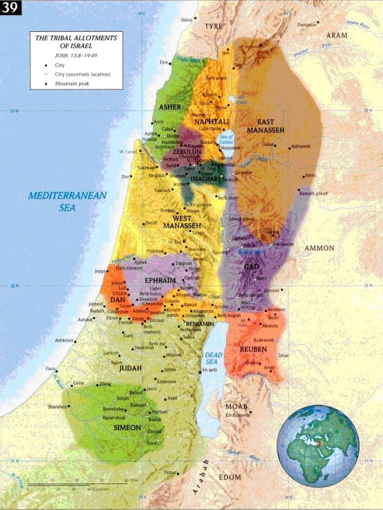 12 tribu d'israel